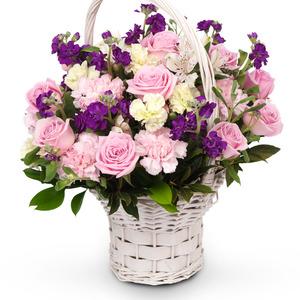 분홍블리 꽃바구니