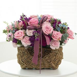 핑크장미 꽃바구니
