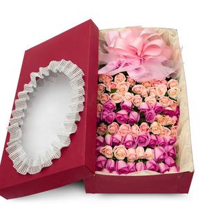 핑크장미혼합 꽃박스 (100송이)