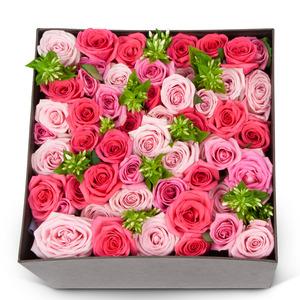 핑크혼합장미 꽃박스