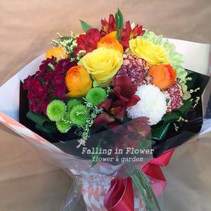 오렌지 과즙 꽃다발